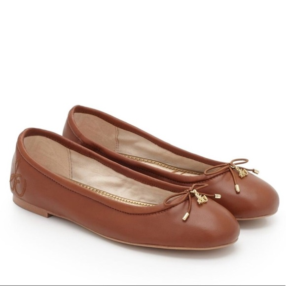 2a2f561567a7f Sam Edelman Felicia Brown Leather Flats Size 10. M 5b842cd18869f78efcde3806